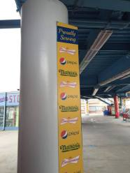Say goodbye to this sign, as Pepsi is no longer the soda of MCU Park.