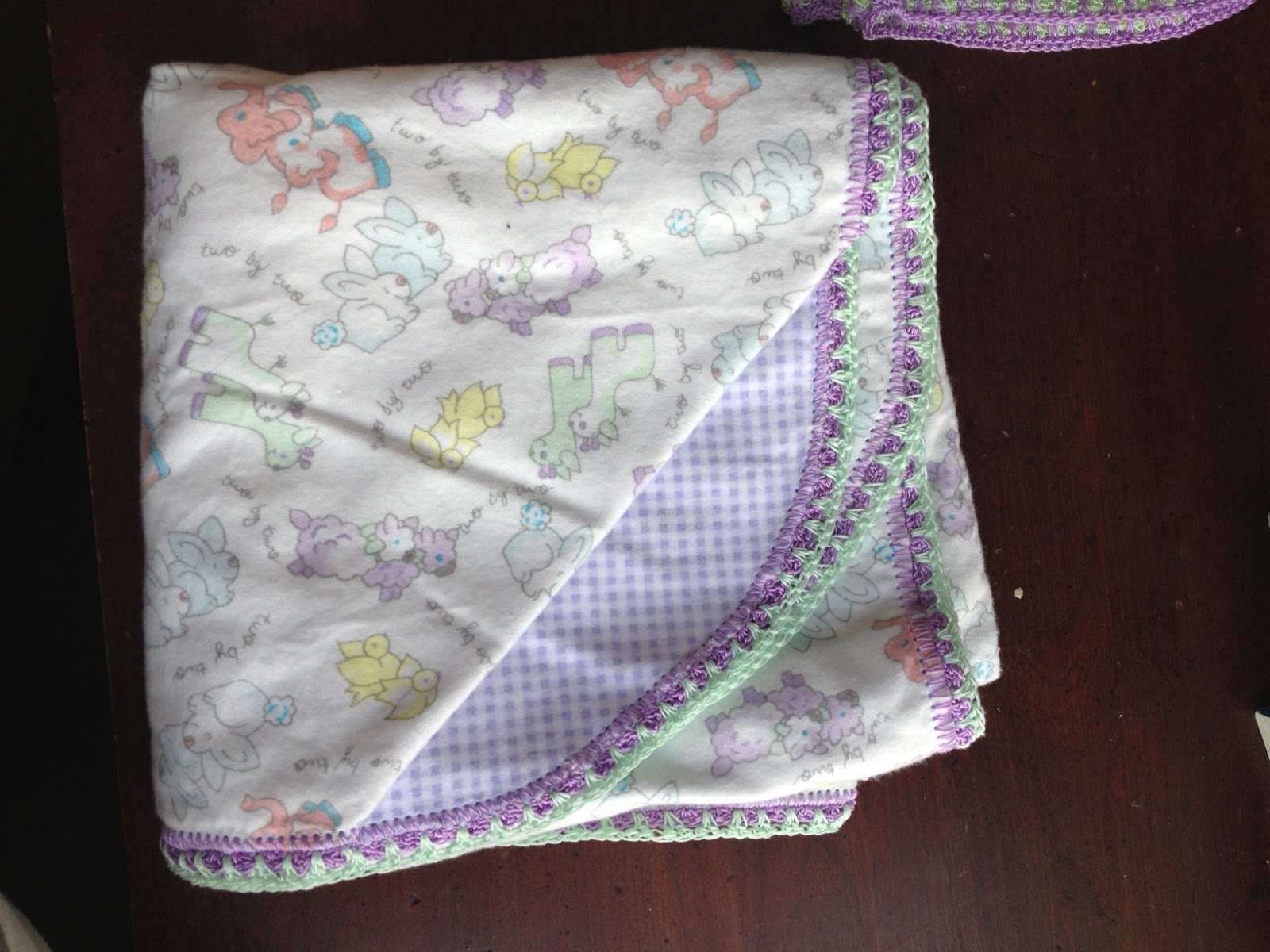 Receiving Blankets With Crocheted Edges - Brooklyn Berry ...