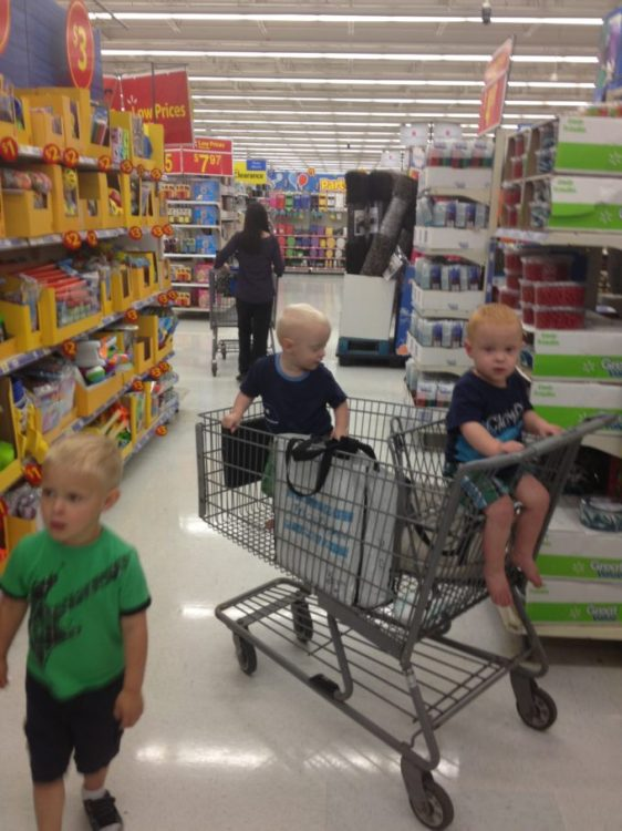shopping with kids