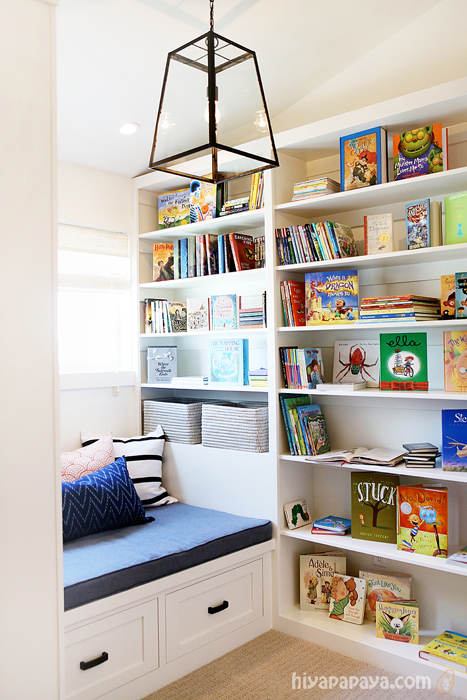 reading nook / library