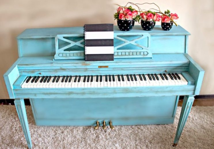 painted piano after