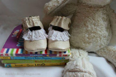 Gold Leather Baby Shoes1