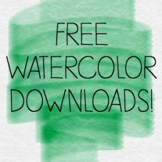 Free Watercolor Downloads #sproutbyHP #CIY