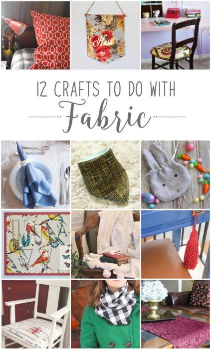 #12MonthsofDIY #February-Fabric DIY-Craft-Ideas