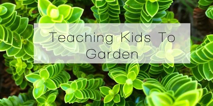 Teaching Kids Garden