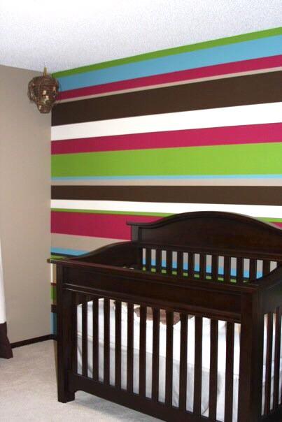 Creative Bedrooms Stripe Girls Nursery