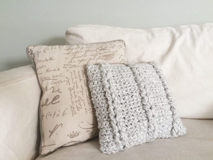 Crochet Cable Pillow W