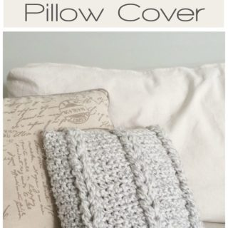 Crochet Chain Links Pillow Cover