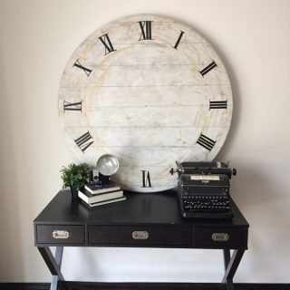 DIY Giant Clock – an upcycle challenge