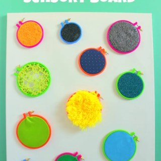 Crafts for the Un-Crafty: DIY Sensory Wall for Babies