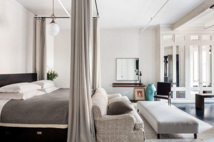 Meg Ryans Soho Loft - Bedroom with 8 custom closets