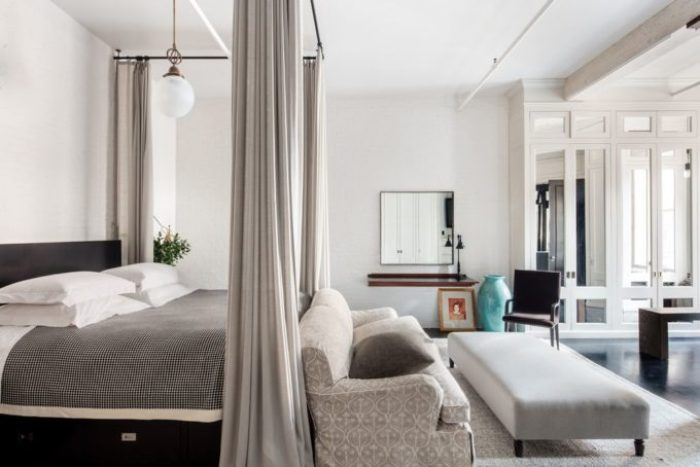 Meg Ryans Soho Loft - Bedroom with 8 custom closets