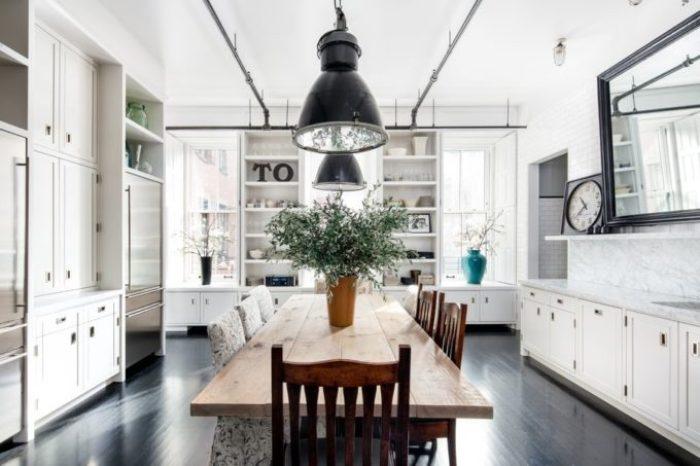 Renovated kitchen in Meg Ryans Soho Loft