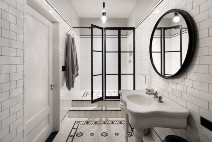 Vintage Modern bathroom designs in Meg Ryans Soho Loft
