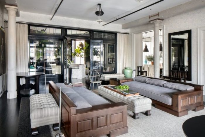 Living room in Meg Ryans Soho Loft