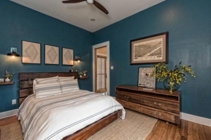 Fixer Upper Shotgun House master bedroom