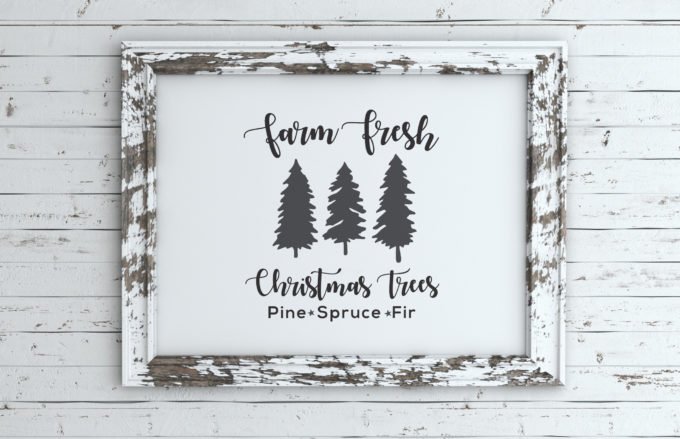 Farm Fresh Christmas Tree Sign Free Svg Files Brooklyn Berry Designs