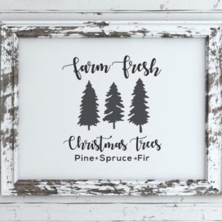 Farm Fresh Christmas Tree Sign Free SVG