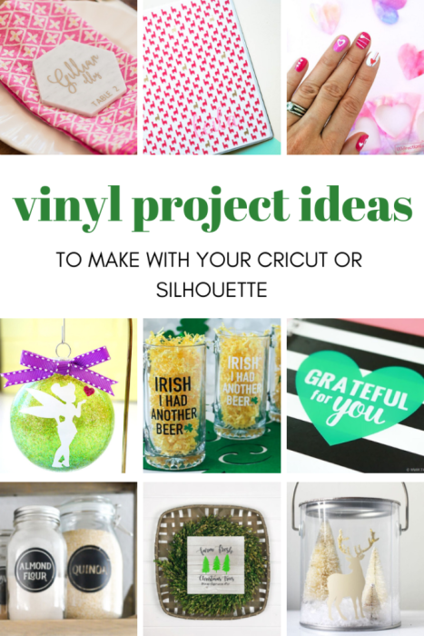 vinyl project ideas to make with your cricut machine.