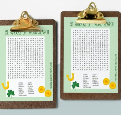 Free Printable St. Patricks Day Word Search