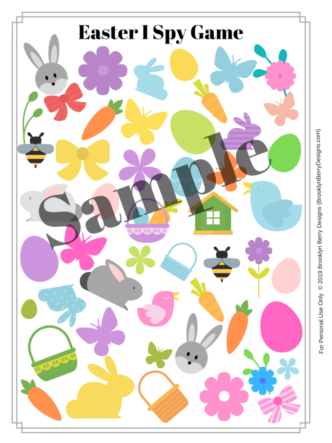 picture relating to I Spy Pages Printable called Totally free Easter I Spy Printable - Brooklyn Berry Options