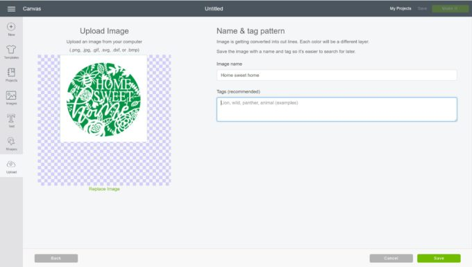 How To Upload A SVG File - name and tag image