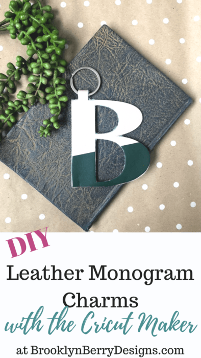 Leather Monogram Charms