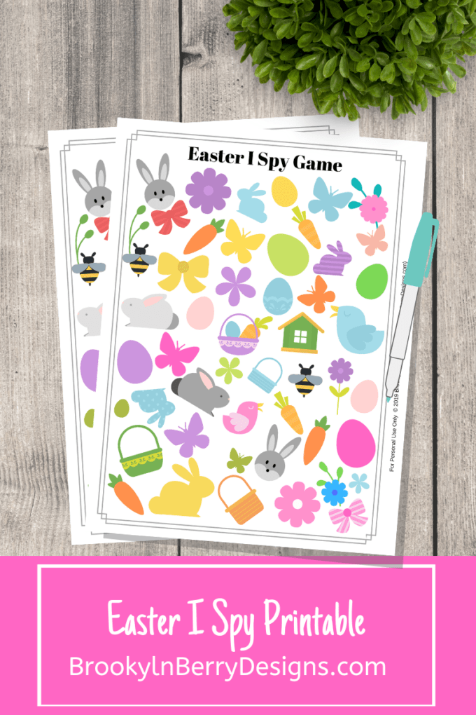 picture regarding I Spy Pages Printable identified as No cost Easter I Spy Printable - Brooklyn Berry Ideas