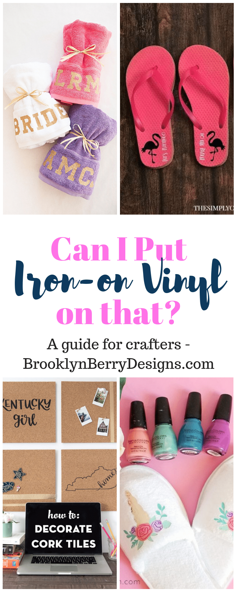 Can I put iron on vinyl on that? I find myself asking that all the time, so here is the list of all the unusual and fun items you can decorate with your Cricut and the EasyPress! via @brookeberry