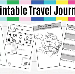printable travel journal