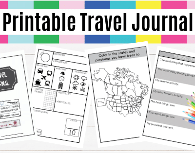 Printable Travel Journal For Kids