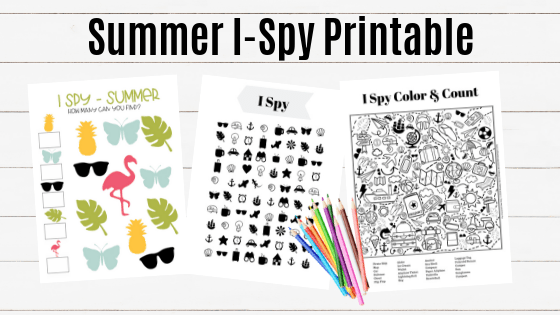 I Spy Activity Page - free printable activity page for kids. 4 levels of skill pages available.