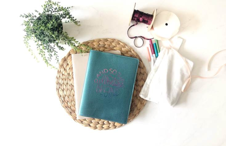 DIY LEATHER JOURNAL COVER