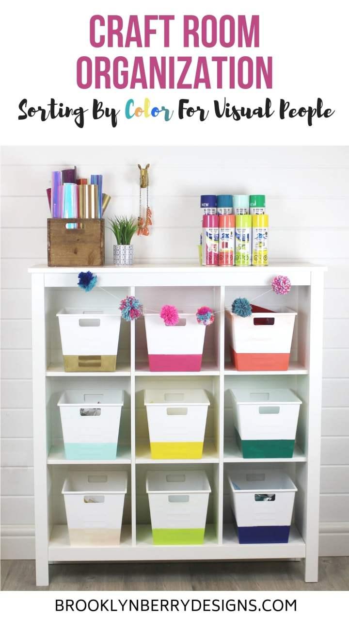 Craft Room Organization #sprayitnew via @brookeberry
