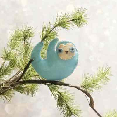 DIY Sloth Ornament