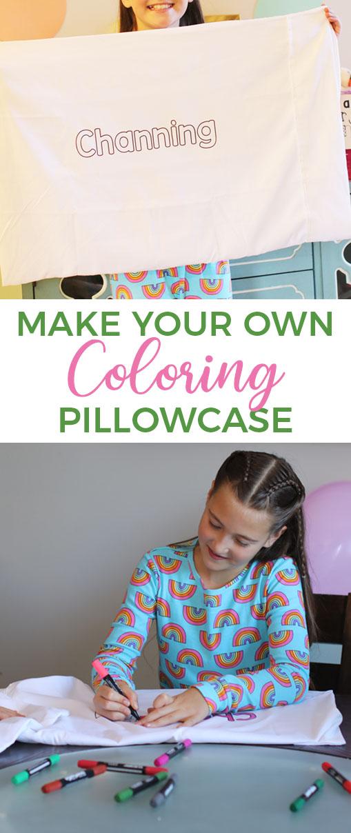 DIY Coloring Pillowcase via @brookeberry