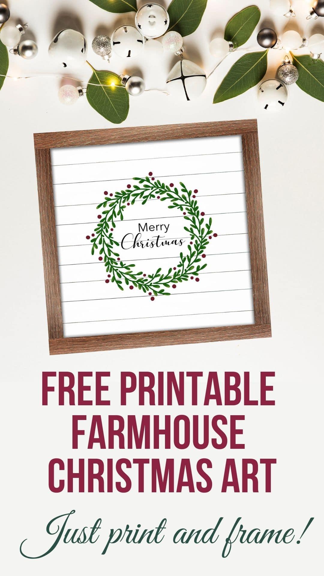 Free Printable Farmhouse Christmas Art via @brookeberry