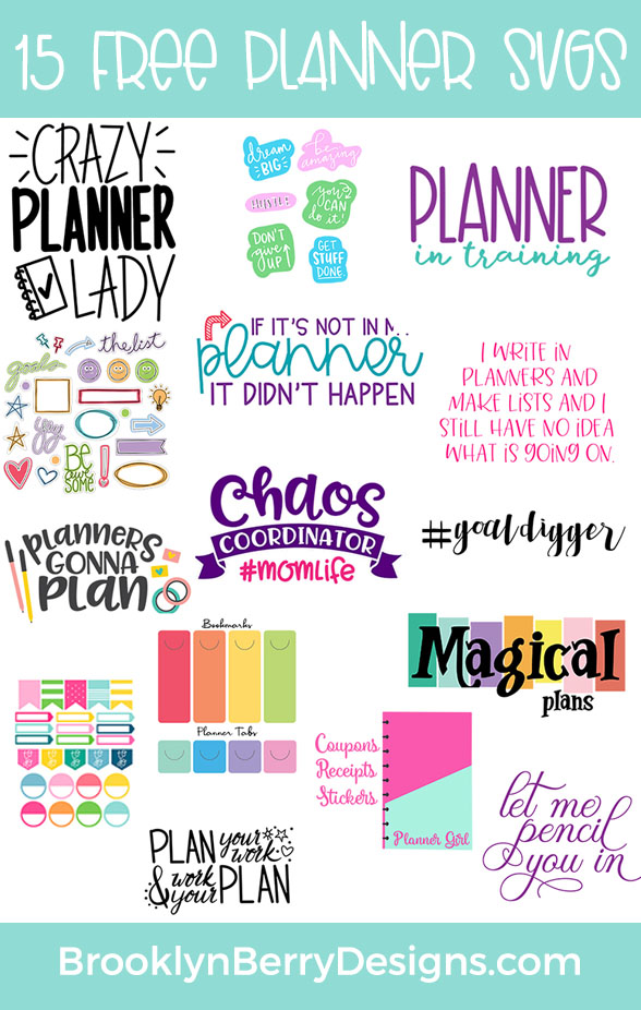 Free Printable Planner Stickers via @brookeberry