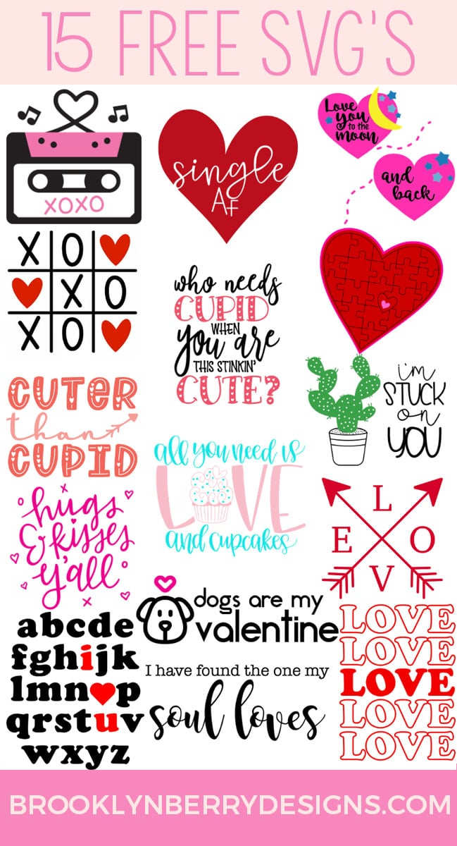 Download Free Valentines SVG Stuck On You - Brooklyn Berry Designs