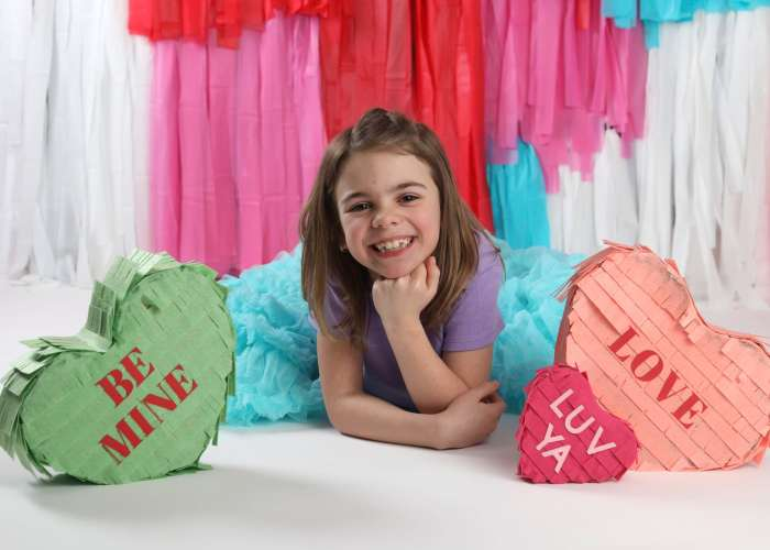 Make your own Conversation Heart Pinata for a photography prop.