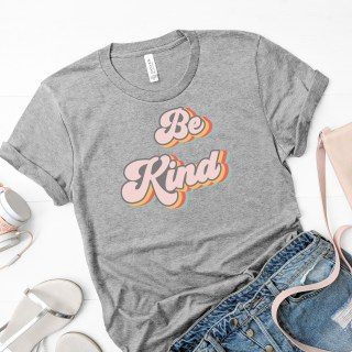 graphic tee shirt with retro 70s style lettering