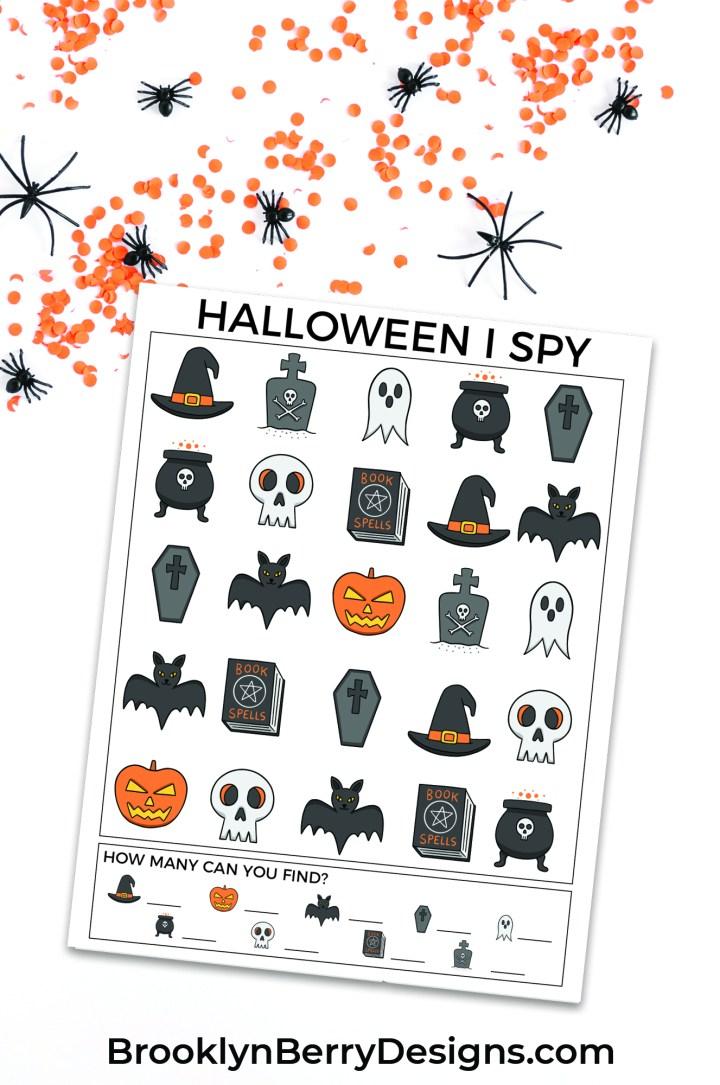 Free printable halloween I Spy page via @brookeberry