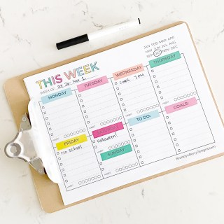 Free Weekly Planner Printable - master your goals with this weekly printable to keep track of appointments, to-dos, and habits.