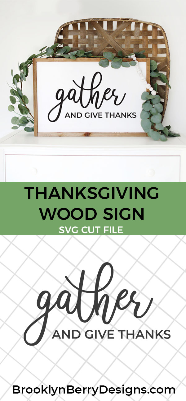 Free Thankful SVG Files - Gather and give thanks via @brookeberry