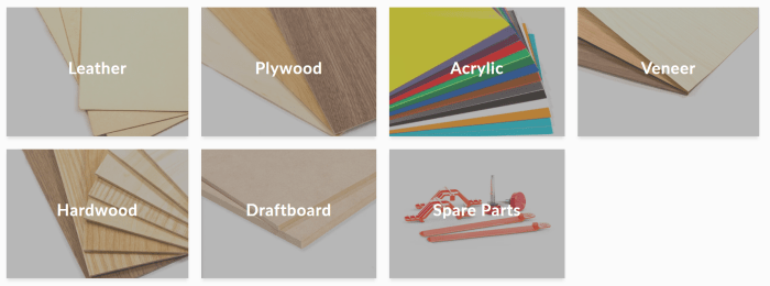 Types of materials that can be cut on a glowforge