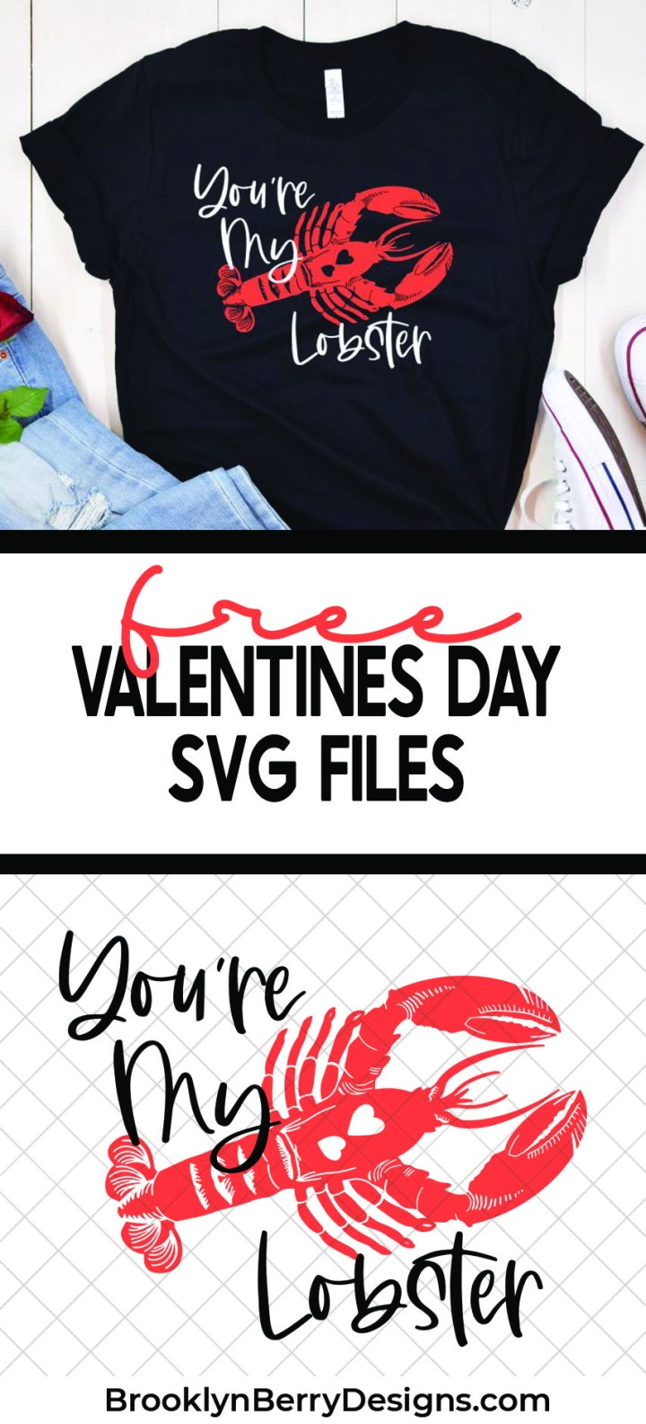 Friends fans will know. Make your own funny valentines shirt with this Friends show You're My Lobster SVG. via @brookeberry