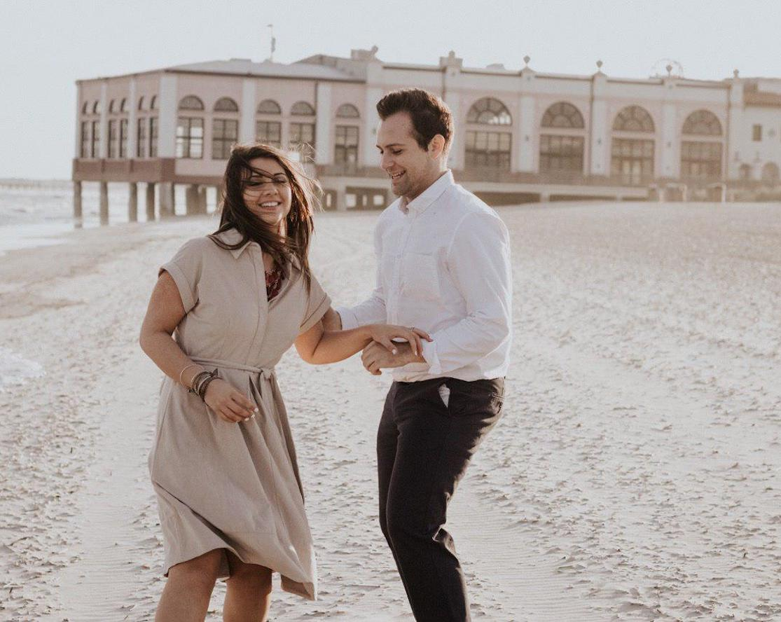 Man and woman dancing on a beach. Brooklyn Dance Lessons wedding package.
