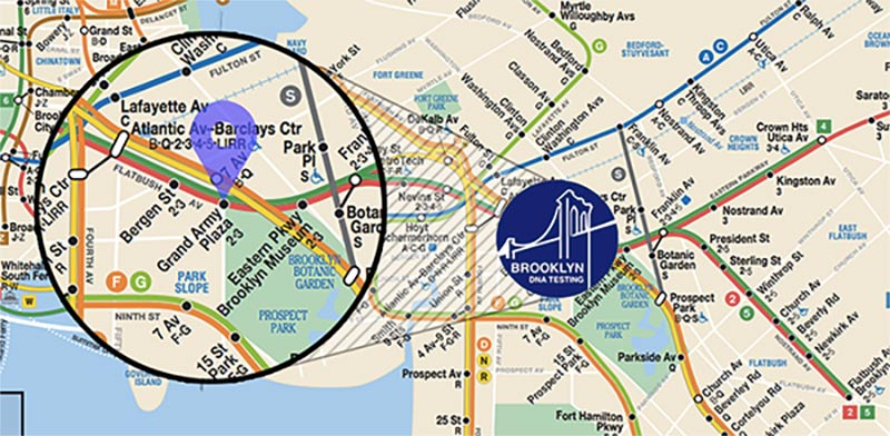 Subway Map BKDNA - Directions to Facility
