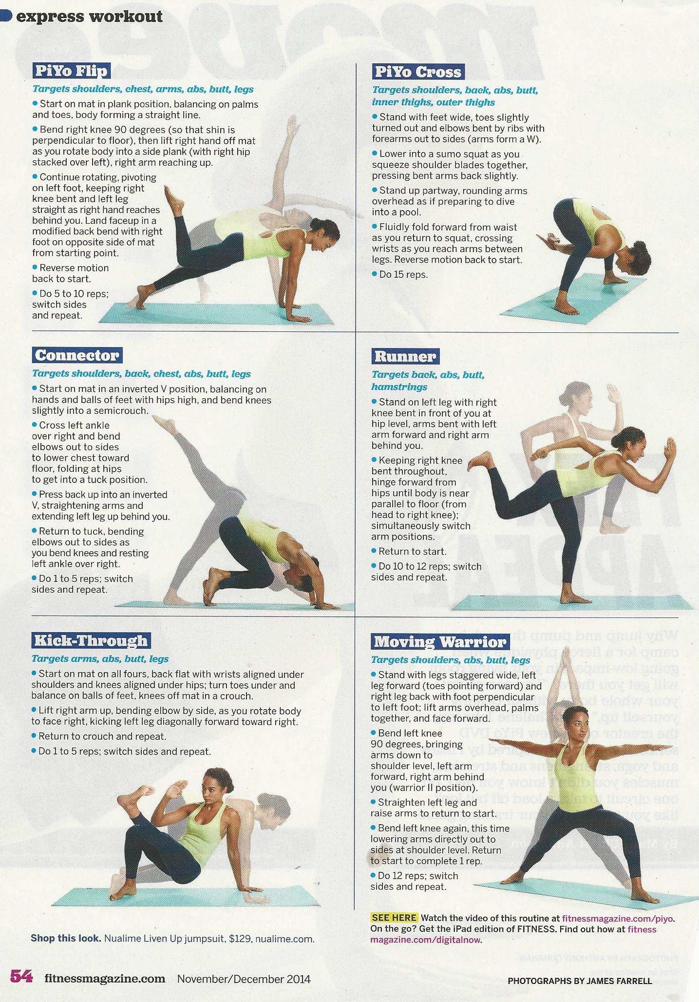What Is The Piyo Workout Schedule