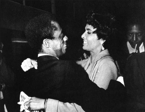 James Baldwin and Lena Horne embracing during a meeting in New York in 1963.